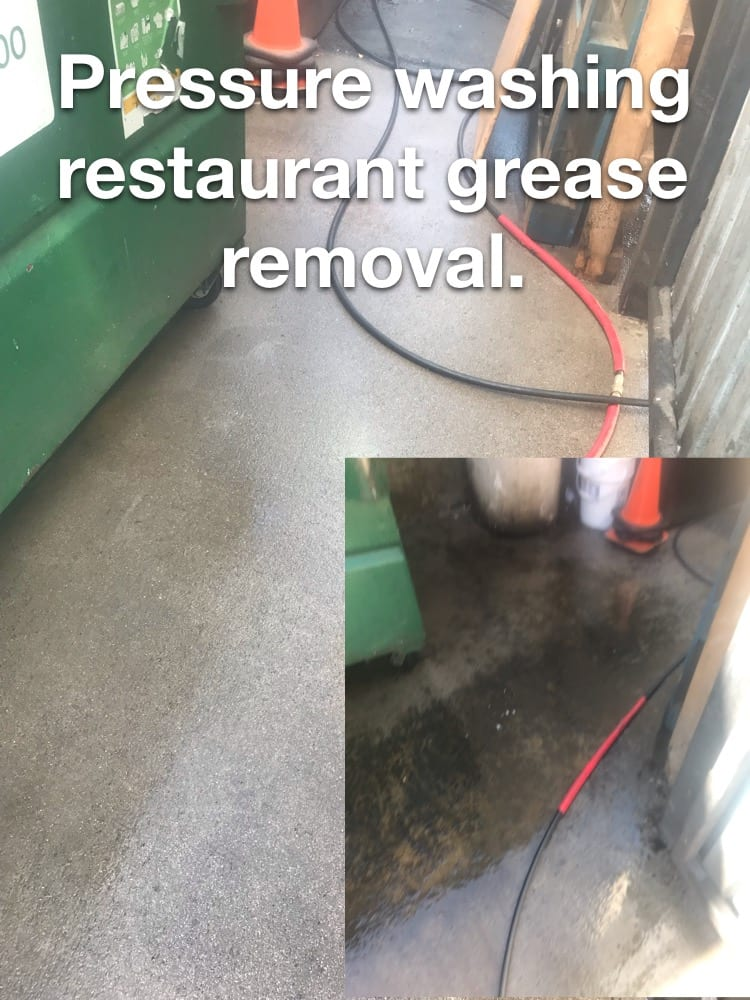 pressure washing me, removing cooking oil, remove grease, pressure washing cleaners near me